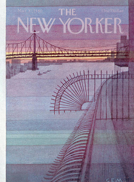 Architecture Painting - New Yorker March 31st, 1980 by Charles E Martin