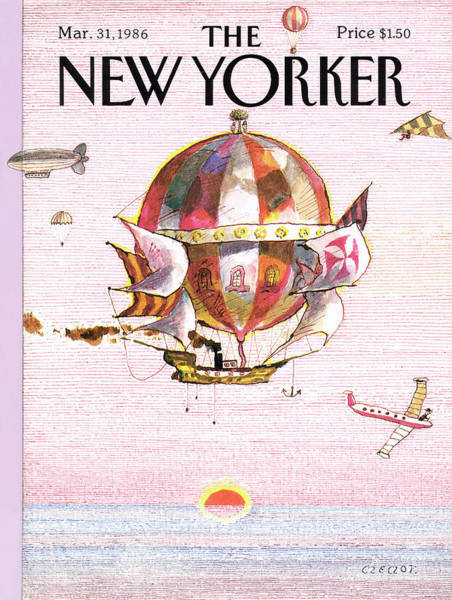 Travel Painting - New Yorker March 31st, 1986 by Andrej Czeczot