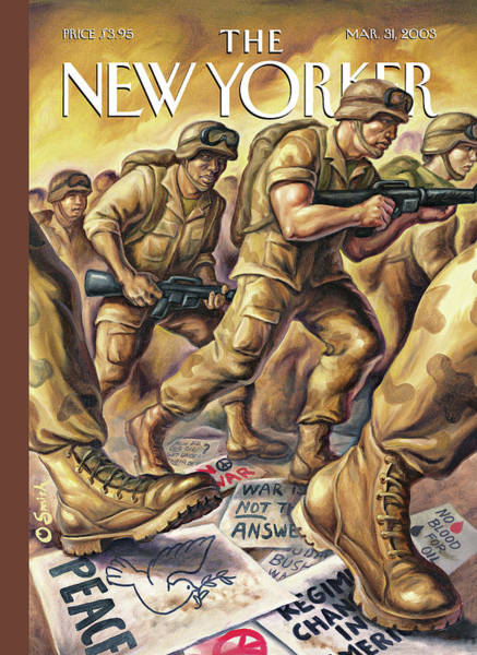 War Painting - New Yorker March 31st, 2003 by Owen Smith