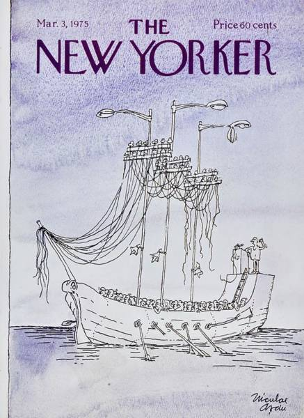 March 3rd Painting - New Yorker March 3rd 1975 by Niculae Asciu