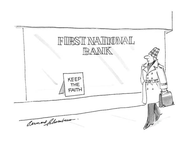March 3rd Drawing - New Yorker March 3rd, 1986 by Bernard Schoenbaum