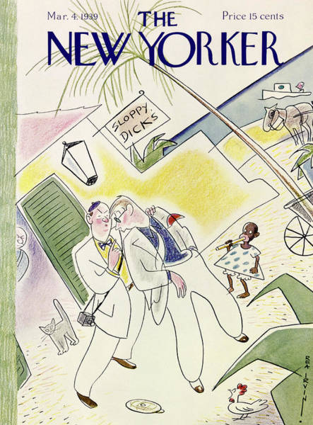 Adult Painting - New Yorker March 4 1939 by Rea Irvin