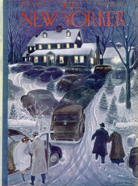 Suburban Painting - New Yorker March 4th, 1950 by Garrett Price