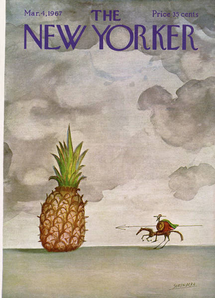 Riding Painting - New Yorker March 4th, 1967 by Saul Steinberg