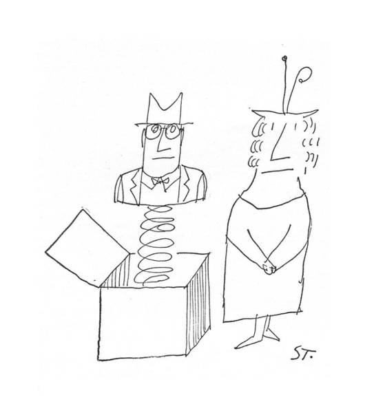 Drawing - New Yorker March 5th, 1960 by Saul Steinberg