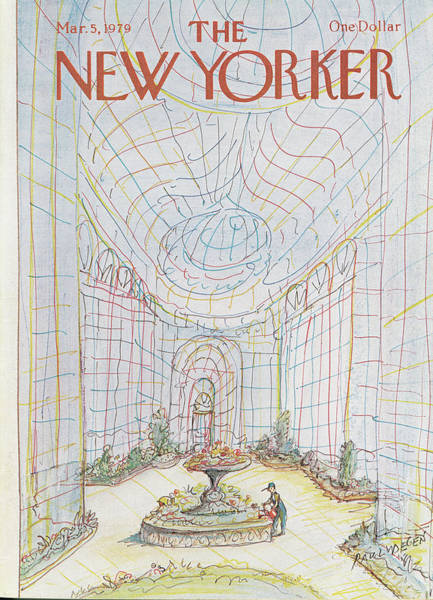 Worker Painting - New Yorker March 5th, 1979 by Paul Degen