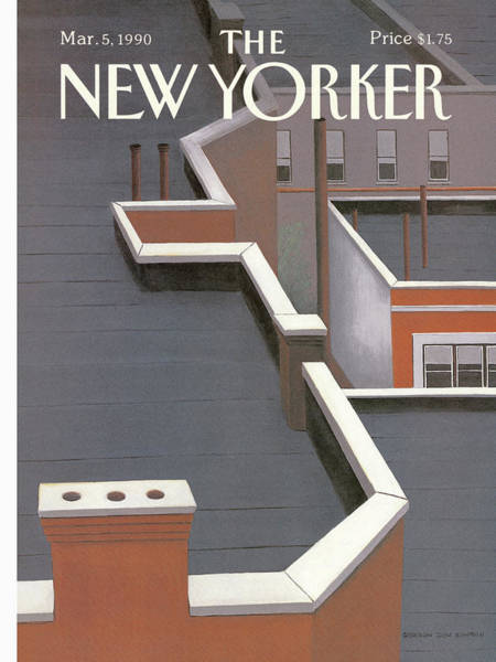 Household Painting - New Yorker March 5th, 1990 by Gretchen Dow Simpson