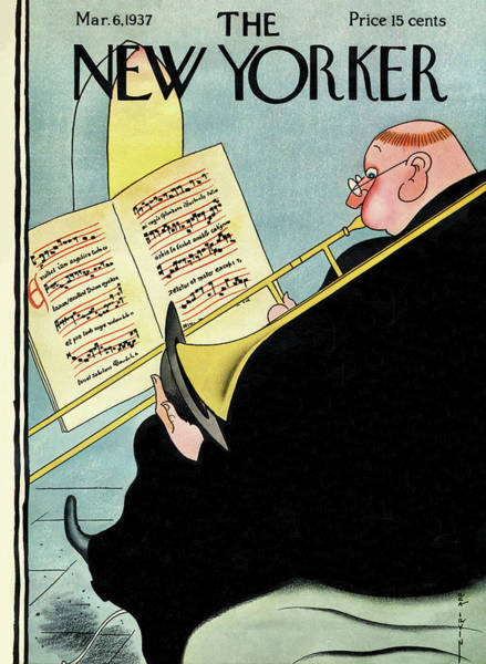 Monk Painting - New Yorker March 6th, 1937 by Rea Irvin
