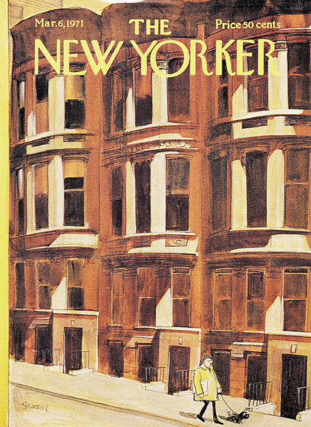 Morning Painting - New Yorker March 6th, 1971 by Charles Saxon