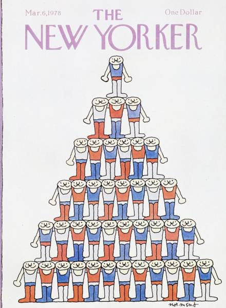 6 Painting - New Yorker March 6th 1978 by John Norment