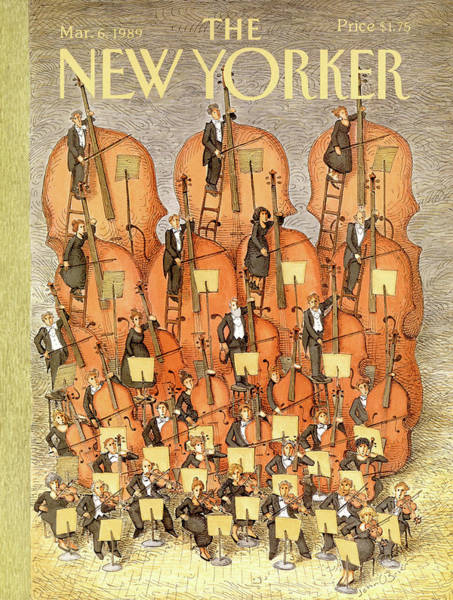 Music Painting - New Yorker March 6th, 1989 by John O'Brien