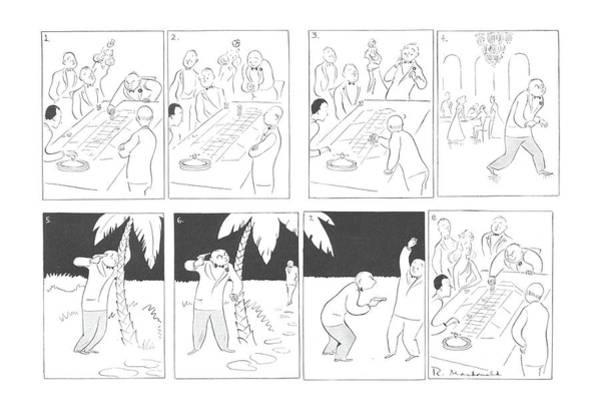 Mugging Drawing - New Yorker March 7th, 1942 by Roberta Macdonald