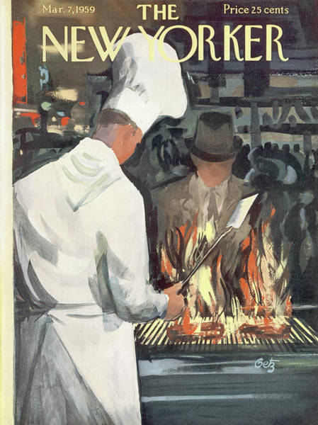 Restaurant Painting - New Yorker March 7th, 1959 by Arthur Getz