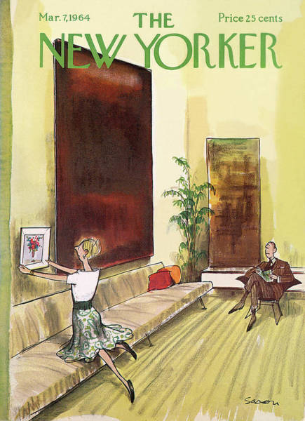 Marriage Painting - New Yorker March 7th, 1964 by Charles Saxon