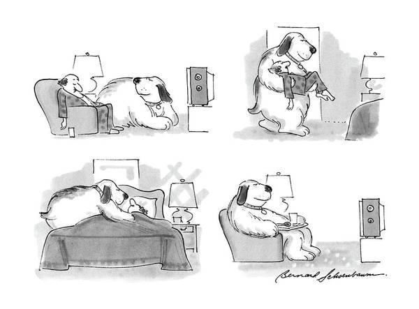 4 Drawing - New Yorker March 7th, 1988 by Bernard Schoenbaum