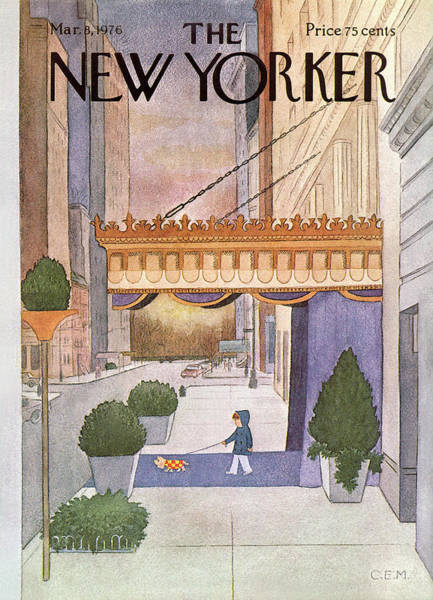 Pet Painting - New Yorker March 8th, 1976 by Charles E Martin