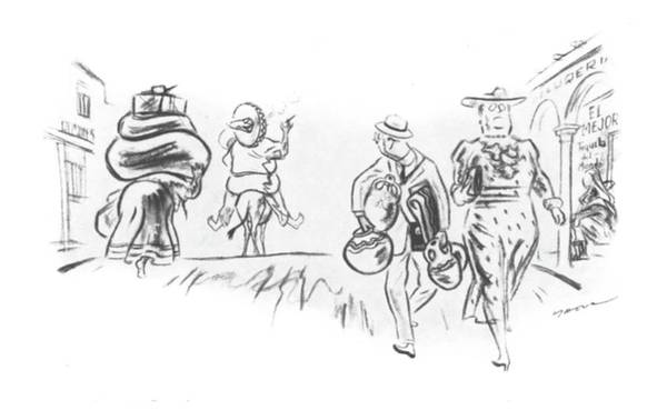 Tourism Drawing - New Yorker March 9th, 1940 by Leonard Dove