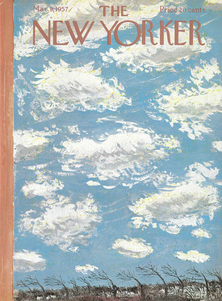 Cloud Painting - New Yorker March 9th, 1957 by Abe Birnbaum