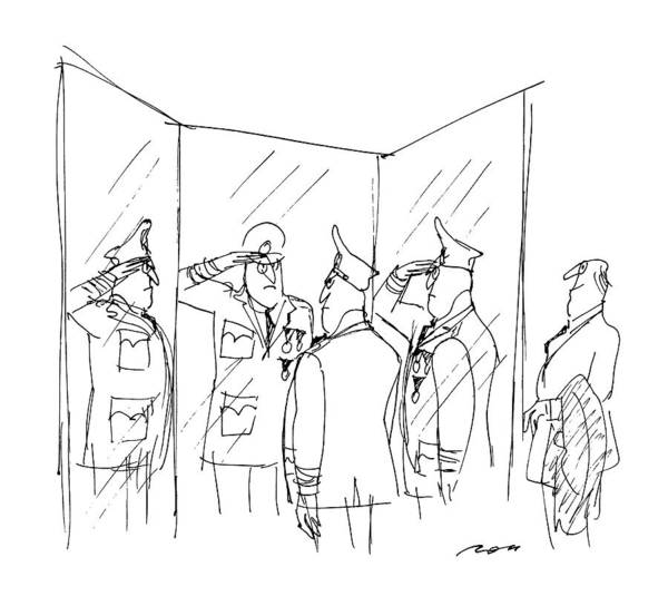 Angle Drawing - New Yorker March 9th, 1987 by Al Ross