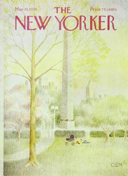 Mid Atlantic Painting - New Yorker May 10th 1976 by Charles Martin