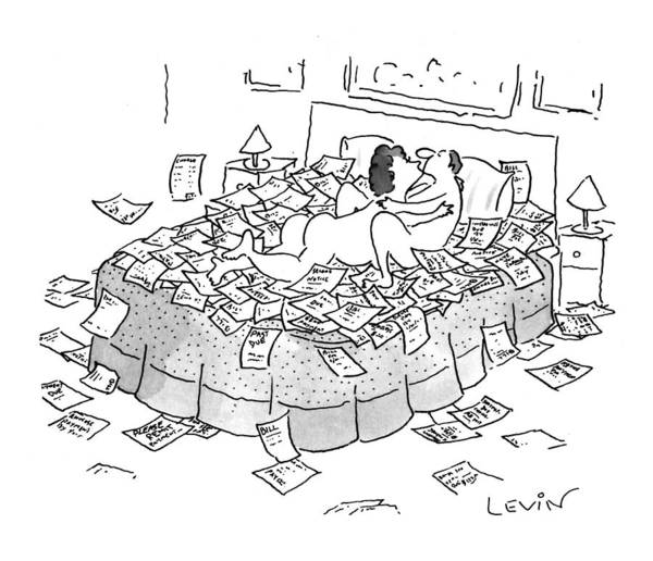 Debts Drawing - New Yorker May 10th, 1993 by Arnie Levin