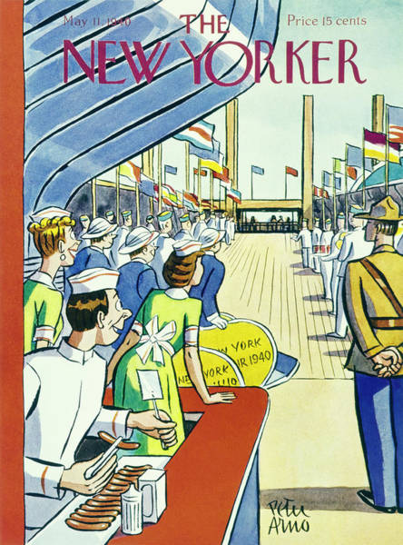 America Painting - New Yorker May 11 1940 by Peter Arno