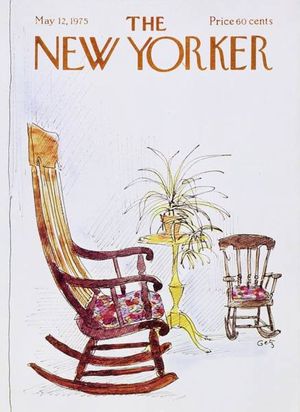 Rocking Chairs Painting - New Yorker May 12th 1975 by Arthur Getz