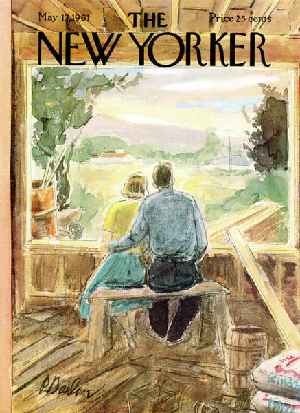 Home Painting - New Yorker May 13th, 1961 by Perry Barlow