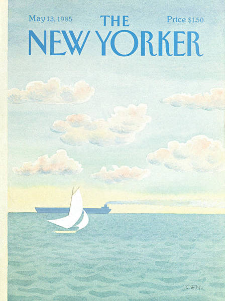 Sailing Painting - New Yorker May 13th, 1985 by Charles E Martin
