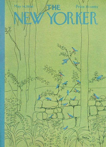 Bluebird Painting - New Yorker May 14th, 1966 by David Preston