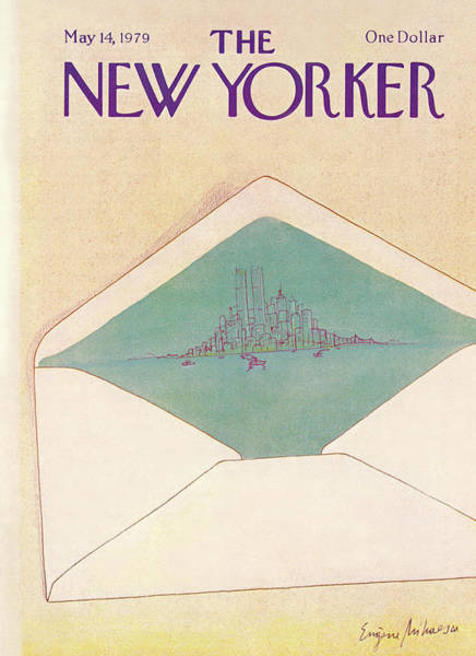Skyline Painting - New Yorker May 14th, 1979 by Eugene Mihaesco