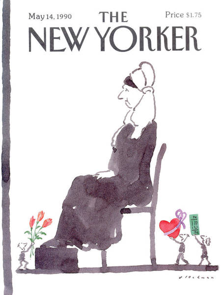 Mother Painting - New Yorker May 14th, 1990 by RO Blechman