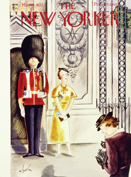 Uniform Painting - New Yorker May 15 1937 by Constantin Alajalov