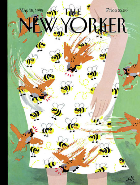 Dress Painting - New Yorker May 15th, 1995 by Bob Zoell