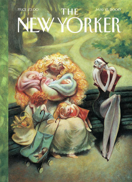 Women Painting - New Yorker May 15th, 2000 by Carter Goodrich