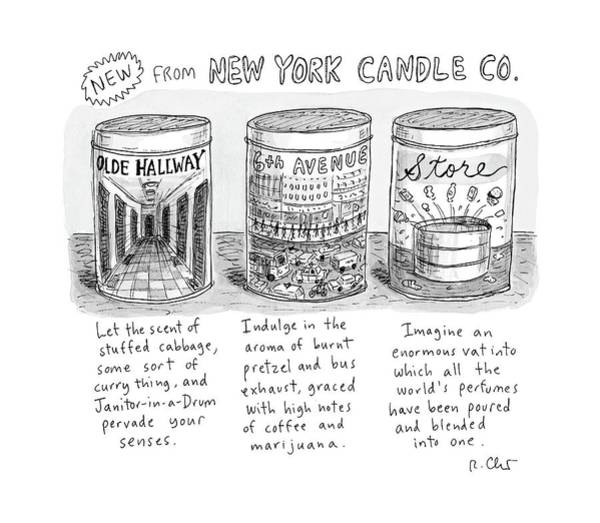 Manhattan Drawing - New Yorker May 15th, 2017 by Roz Chast