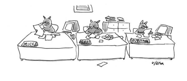 Working Animal Drawing - New Yorker May 16th, 1994 by Dean Vietor