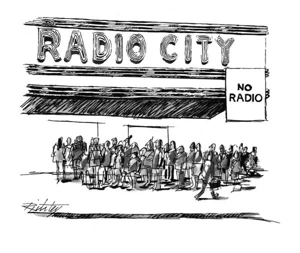 Radio City Music Hall Drawing - New Yorker May 16th, 1994 by Mischa Richter