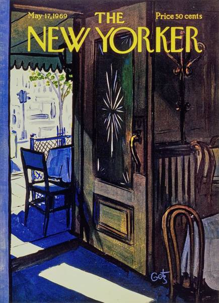 Restaurant Painting - New Yorker May 17th 1969 by Arthur Getz
