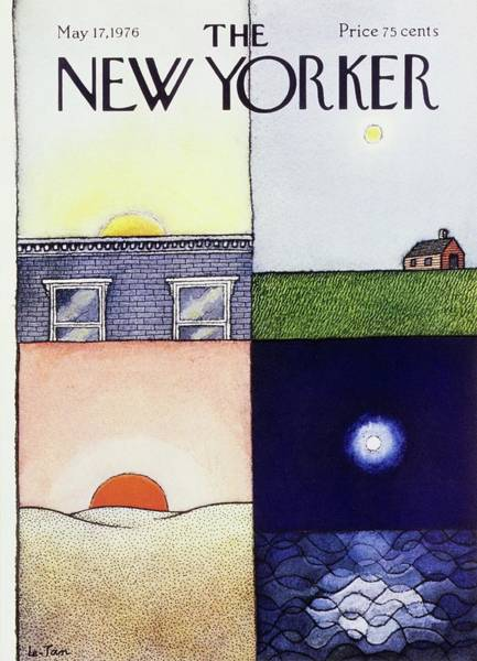 Night Time Painting - New Yorker May 17th 1976 by Pierre Le-Tan