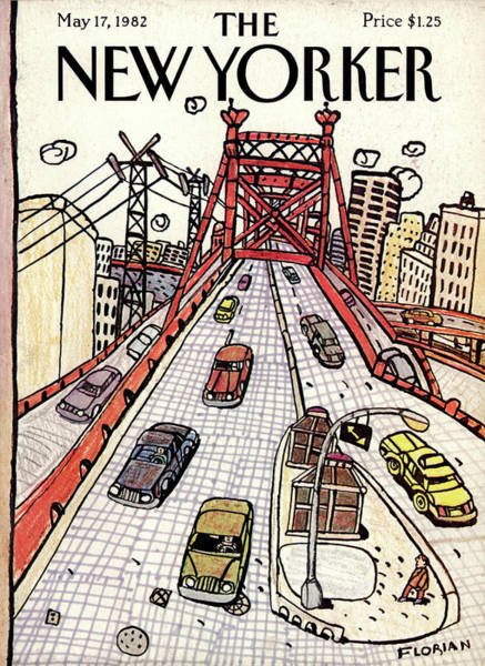 Queens Painting - New Yorker May 17th, 1982 by Douglas Florian