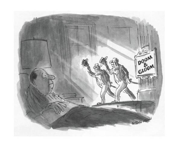 Senior Drawing - New Yorker May 17th, 1982 by James Stevenson