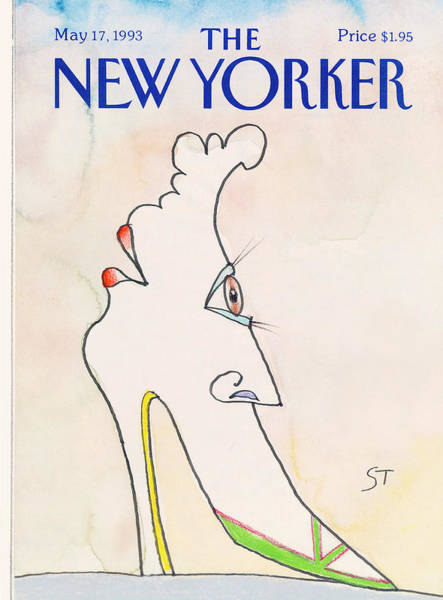 Shoe Painting - New Yorker May 17th, 1993 by Saul Steinberg