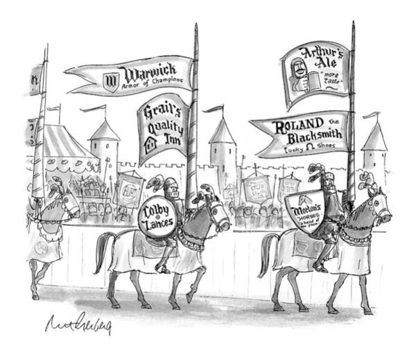 Advertising Drawing - New Yorker May 17th, 1999 by Mort Gerberg