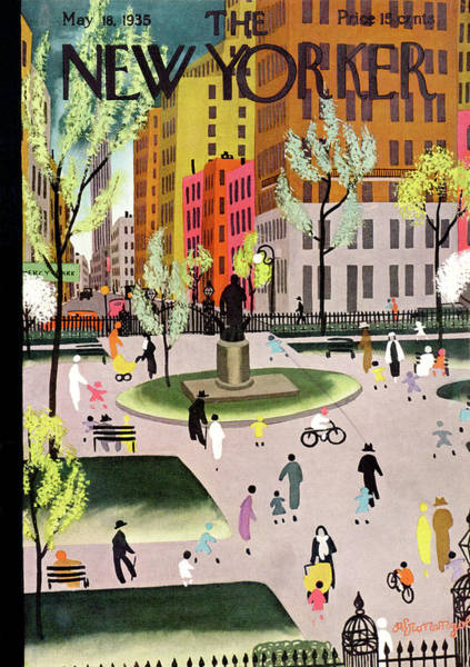 Nyc Painting - New Yorker May 18th, 1935 by Adolph K Kronengold