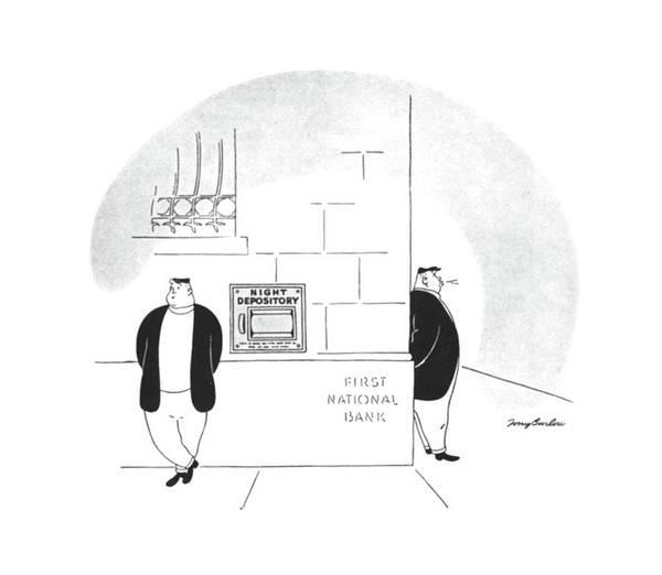 Deposit Drawing - New Yorker May 18th, 1940 by M. K. Barlow
