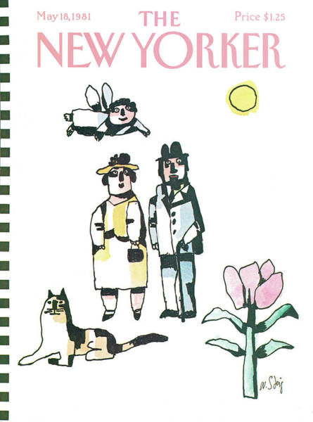 Dress Painting - New Yorker May 18th, 1981 by William Steig