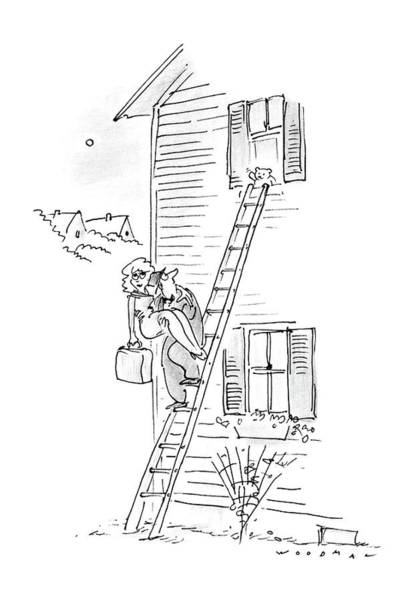 Wall Art - Drawing - New Yorker May 18th, 1987 by Bill Woodman