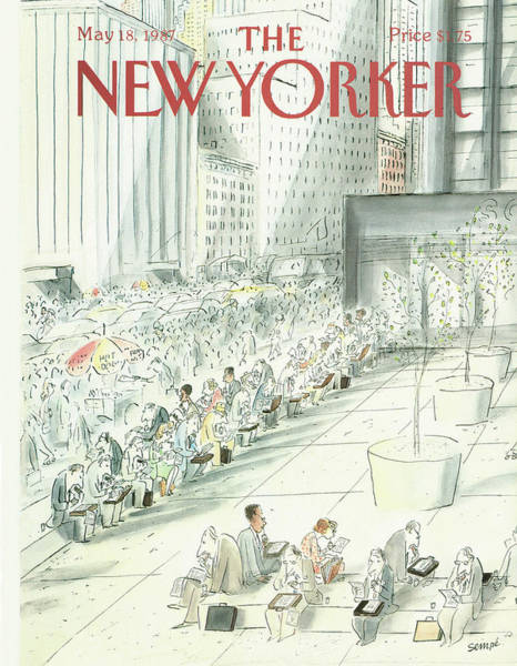 Men Painting - New Yorker May 18th, 1987 by Jean-Jacques Sempe