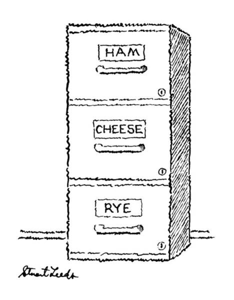 Sandwiches Drawing - New Yorker May 18th, 1987 by Stuart Leeds